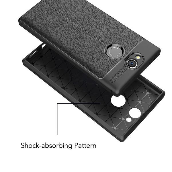 NALIA Leder-Look Handyhülle kompatibel mit Sony Xperia XA2, Ultra Slim Silikon Case Cover, Dünne Phone Schutzhülle, Etui Handy-Tasche Back-Cover Bumper, TPU Gummihülle - Schwarz – Bild 6
