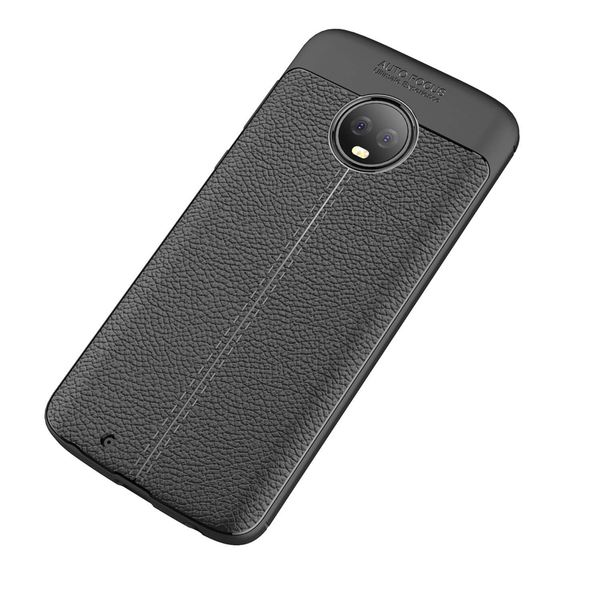 NALIA Leder-Look Handyhülle kompatibel mit Motorola Moto G6, Ultra-Slim Silikon Case Cover, Dünne Phone Schutzhülle, Stoßfeste Etui Handy-Tasche Back-Cover Bumper, TPU Gummihülle - Schwarz – Bild 8