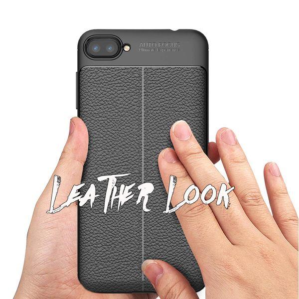 "NALIA Leder-Look Hülle kompatibel mit ASUS ZenFone 4 Max 5,2"", Ultra-Slim Silikon Handyhülle Case Cover, Dünne Schutzhülle, Stoßfeste Etui Handy-Tasche Back-Cover Bumper Gummihülle - Schwarz – Bild 3"