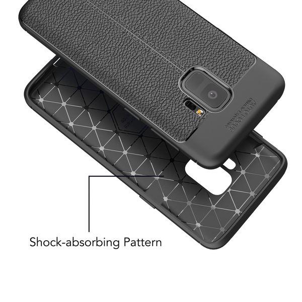 NALIA Leder-Look Handyhülle kompatibel mit Samsung Galaxy S9, Ultra-Slim Silikon Case Cover, Dünne Smart-Phone Schutzhülle, Etui Handy-Tasche Back-Cover Bumper, TPU Gummihülle - Schwarz – Bild 5