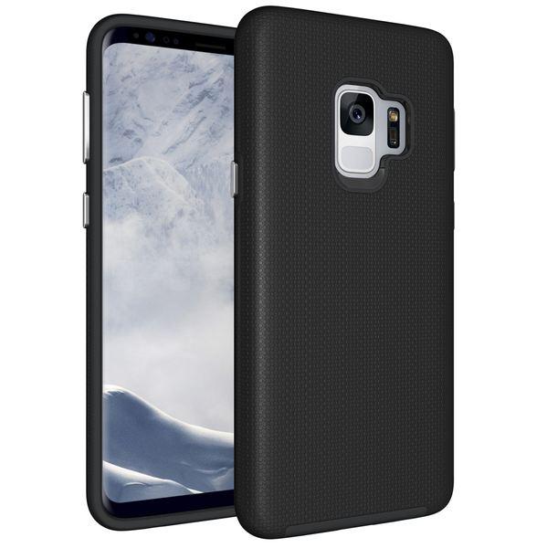 NALIA Handyhülle kompatibel mit Samsung Galaxy S9, Ultra-Slim Silikon Case mit Hard-Cover, zweiteilig Dünne Hybrid Schutzhülle Etui, Phone Bumper 2 in 1 Backcover Handy-Tasche - Schwarz – Bild 1