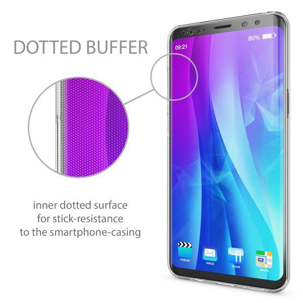 NALIA 360 Grad Handyhülle kompatibel mit Samsung Galaxy S9 Plus, Full Cover vorne hinten Doppel-Schutz Dünnes Ganzkörper Case Silikon Etui, Transparenter Displayschutz & Rückseite – Bild 6