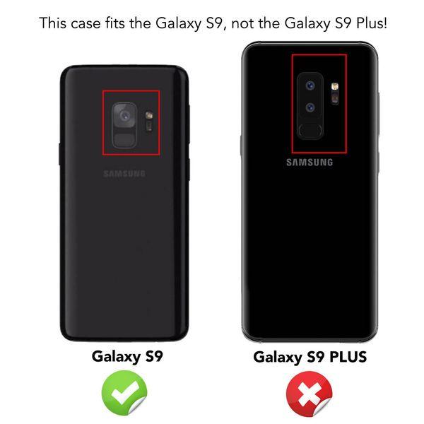 NALIA Handyhülle kompatibel mit Samsung Galaxy S9, Ultra-Slim Silikon Handy Case Cover, Dünne Crystal Schutz-Hülle, Etui Handy-Tasche Back-Cover Bumper, TPU Hülle für Samsung S9 Smart-Phone - Schwarz – Bild 4
