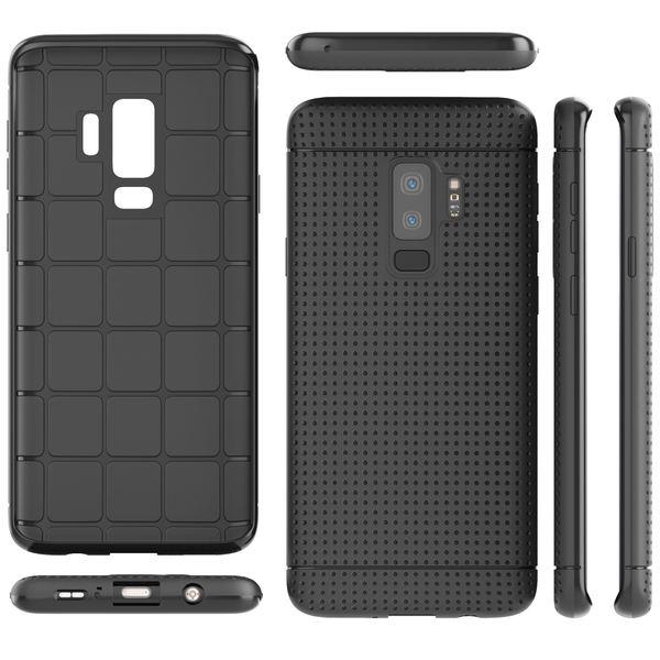 NALIA Handyhülle kompatibel mit Samsung Galaxy S9 Plus, Ultra-Slim Case Softcover, Dünne Punkte Schutzhülle Etui Handy-Tasche Back-Cover Bumper TPU Silikon Smart-Phone Gummi-Hülle - Schwarz – Bild 5