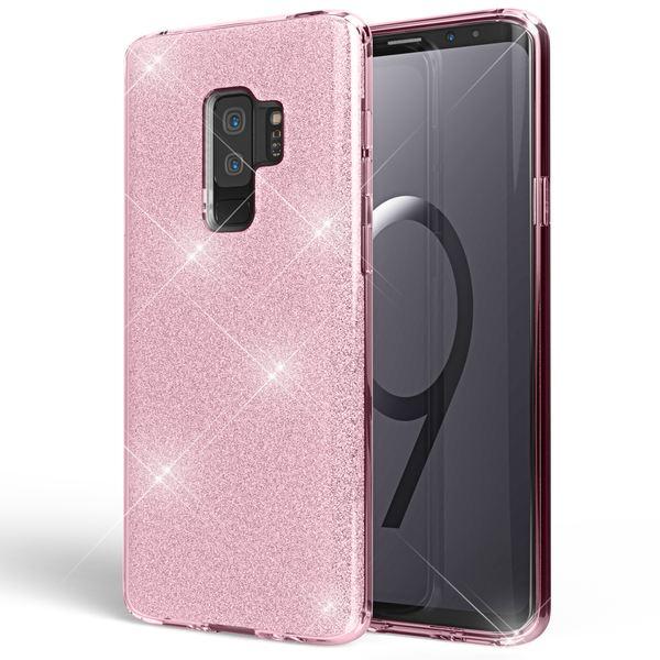 NALIA Handyhülle kompatibel mit Samsung Galaxy S9 Plus, Glitzer Ultra-Slim Silikon-Case Back-Cover Schutz, Glitter Sparkle Handy-Tasche Bumper, Dünnes Bling Strass Phone Etui – Bild 9