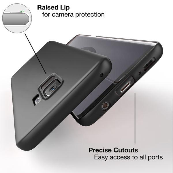 NALIA Handyhülle kompatibel mit Samsung Galaxy S9, Dünnes Hard-Case Schutzhülle Matt, Ultra-Slim Cover Etui Handy-Tasche, Ultra-Slim Smart-Phone Backcover Skin Bumper – Bild 3