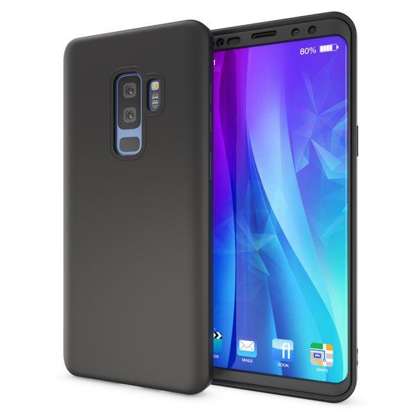 NALIA Rundum Handyhülle kompatibel mit Samsung Galaxy S9 Plus, TPU Rahmen vorne & hinten Dünnes Silikon Case, Doppel-Schutz Ultra-Slim Bumper, Full-Body Handytasche Vorder & Rückseite – Bild 4