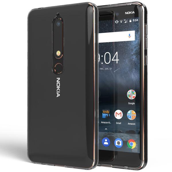 NALIA Hülle Handyhülle kompatibel mit Nokia 6.1 (2018), Soft Ultra-Slim TPU Silikon Case Cover Crystal Clear Schutzhülle Dünn Durchsichtig, Etui Handy-Tasche Backcover Transparent,  Schutz Bumper – Bild 7