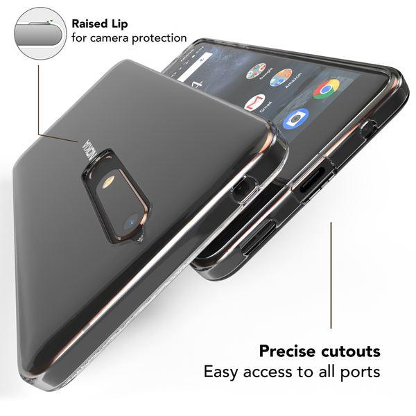 NALIA Hülle Handyhülle kompatibel mit Nokia 6.1 (2018), Soft Ultra-Slim TPU Silikon Case Cover Crystal Clear Schutzhülle Dünn Durchsichtig, Etui Handy-Tasche Backcover Transparent,  Schutz Bumper – Bild 2