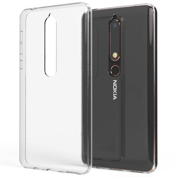 NALIA Hülle Handyhülle kompatibel mit Nokia 6.1 (2018), Soft Ultra-Slim TPU Silikon Case Cover Crystal Clear Schutzhülle Dünn Durchsichtig, Etui Handy-Tasche Backcover Transparent,  Schutz Bumper – Bild 1