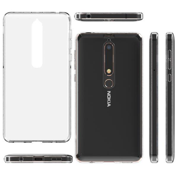 NALIA Hülle Handyhülle kompatibel mit Nokia 6.1 (2018), Soft Ultra-Slim TPU Silikon Case Cover Crystal Clear Schutzhülle Dünn Durchsichtig, Etui Handy-Tasche Backcover Transparent,  Schutz Bumper – Bild 5