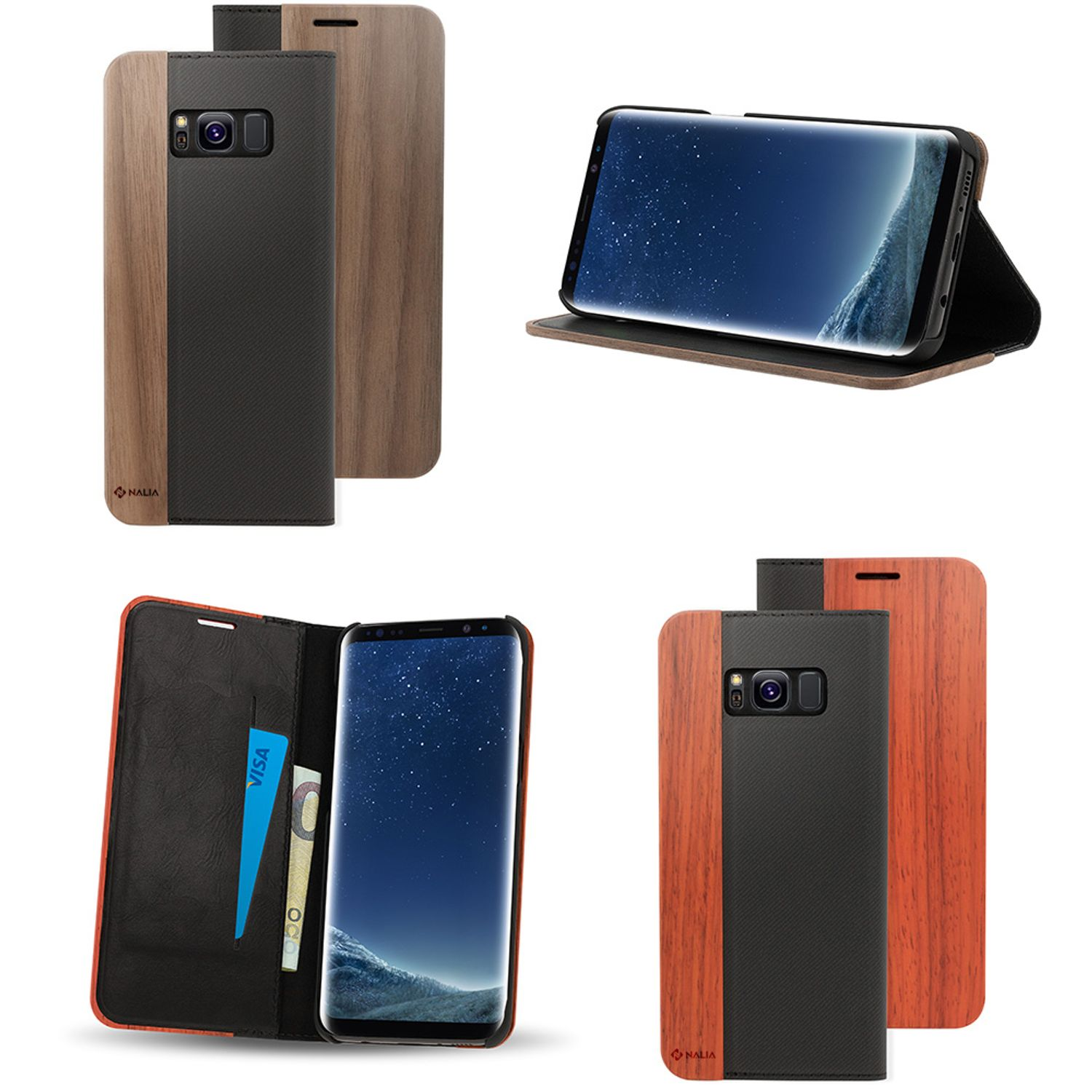 outlet store 10b47 3ede6 Details about Samsung Galaxy S8 Wood Case by NALIA, Ultra Thin Handmade  Wooden Phone Cover