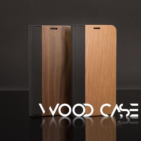 NALIA Echt-Holz Handyhülle für Samsung Galaxy S9 Plus, Handmade Natur-Holz Handy-Tasche Klapphülle Flip-Case, Dünnes Slim Kunst-leder Hardcase, Wood Cover Bumper für Samsung S9+ – Bild 8