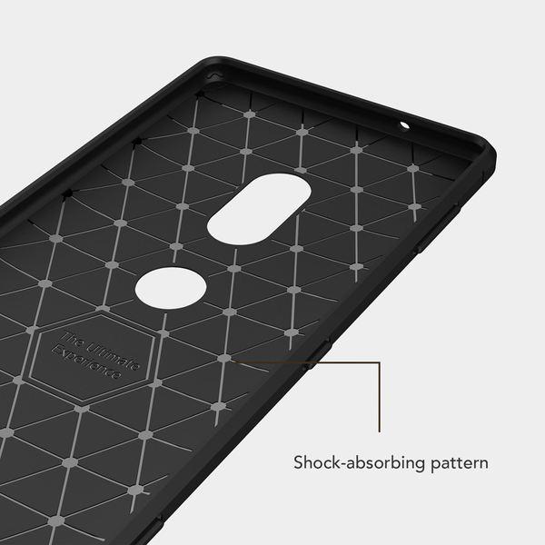 NALIA Handyhülle kompatibel mit Sony Xperia XZ2, Ultra Slim Silikon Case Cover, Dünne Crystal Phone Schutzhülle, Etui Handy-Tasche Back-Cover Bumper, Smartphone TPU Gummihülle  - Schwarz – Bild 5