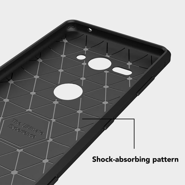NALIA Handyhülle kompatibel mit Sony Xperia XZ2 Compact, Ultra Slim Silikon Case Cover, Dünne Crystal Phone Schutzhülle Etui Handy-Tasche Back-Cover Bumper, Gummihülle - Schwarz – Bild 5