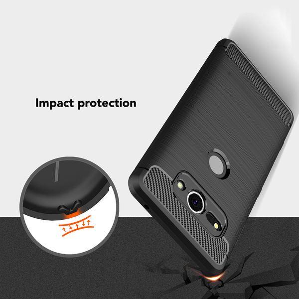 NALIA Handyhülle kompatibel mit Sony Xperia XZ2 Compact, Ultra Slim Silikon Case Cover, Dünne Crystal Phone Schutzhülle Etui Handy-Tasche Back-Cover Bumper, Gummihülle - Schwarz – Bild 6