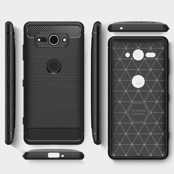 NALIA Handyhülle kompatibel mit Sony Xperia XZ2 Compact, Ultra Slim Silikon Case Cover, Dünne Crystal Phone Schutzhülle Etui Handy-Tasche Back-Cover Bumper, Gummihülle - Schwarz – Bild 7
