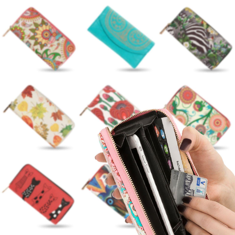 Handyfach Kunst-Leder Brieftasche Geldbeutel BLUZELLE Geldbörse Portemonnaie