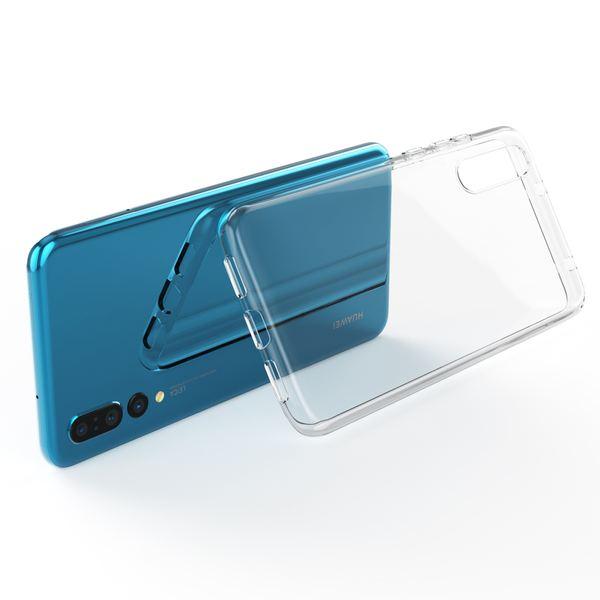 NALIA Handyhülle kompatibel mit Huawei P20 Pro, Soft Slim TPU Silikon Case Cover Crystal Clear Schutzhülle Dünn Durchsichtig, Etui Handy-Tasche Backcover Transparent, Smart-Phone Schutz Bumper – Bild 5