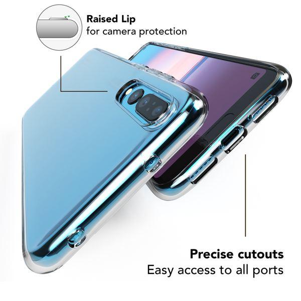 NALIA Handyhülle kompatibel mit Huawei P20 Pro, Soft Slim TPU Silikon Case Cover Crystal Clear Schutzhülle Dünn Durchsichtig, Etui Handy-Tasche Backcover Transparent, Smart-Phone Schutz Bumper – Bild 3
