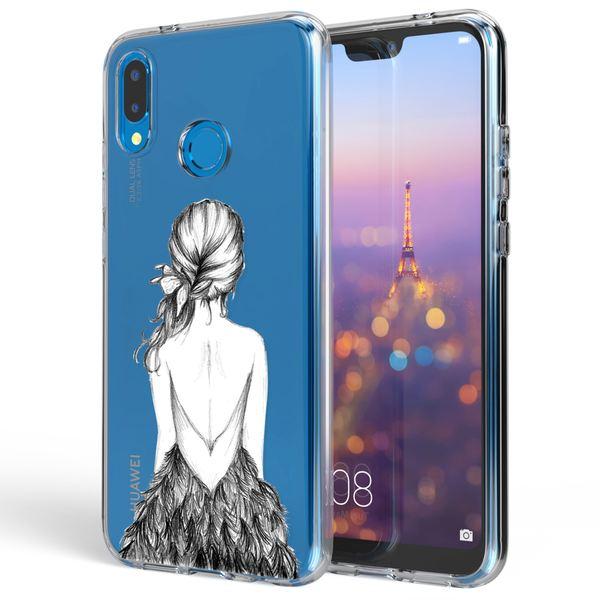 NALIA Handyhülle kompatibel mit Huawei P20 Lite, Slim Silikon Motiv Case Back-Cover Crystal Schutzhülle Dünn Durchsichtig, Etui Handy-Tasche Transparent Bumper – Bild 8