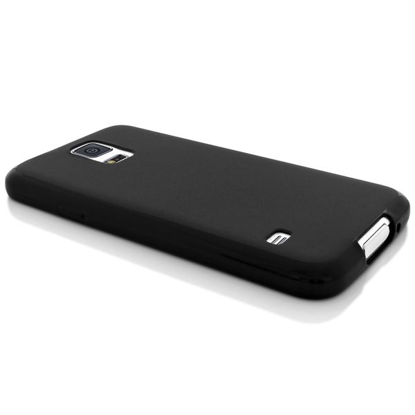 NALIA Handyhülle kompatibel mit Samsung Galaxy S5 Mini, Hülle Ultra-Slim Silikon Case, Dünne Crystal Schutzhülle Etui Handy-Tasche Schale Back-Cover Bumper, TPU Smart-Phone Gummi-Hülle - Schwarz – Bild 3