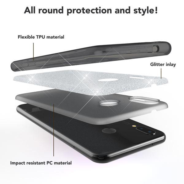 NALIA Handyhülle für Huawei P20 Lite, Glitzer Ultra-Slim Silikon-Case Back-Cover Schutzhülle, Glitter Sparkle Handytasche Bumper Dünnes Bling Strass Smartphone Etui für P-20 Lite – Bild 4