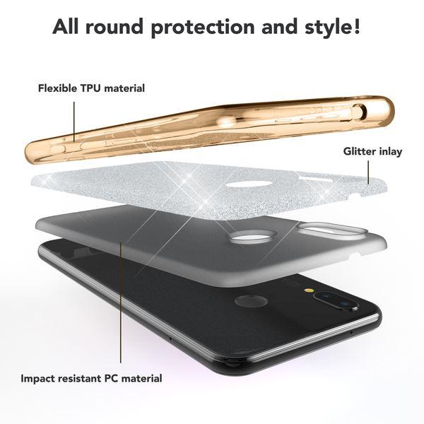 NALIA Handyhülle für Huawei P20 Lite, Glitzer Ultra-Slim Silikon-Case Back-Cover Schutzhülle, Glitter Sparkle Handytasche Bumper Dünnes Bling Strass Smartphone Etui für P-20 Lite – Bild 16