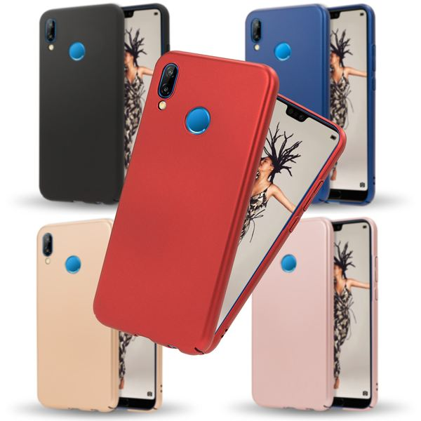 NALIA Handyhülle kompatibel mit Huawei P20 Lite, Dünnes Hard-Case Schutzhülle Matt, Ultra-Slim Cover Etui leichte Handy-Tasche, Ultra-Slim Smart-Phone Backcover Skin Bumper – Bild 1
