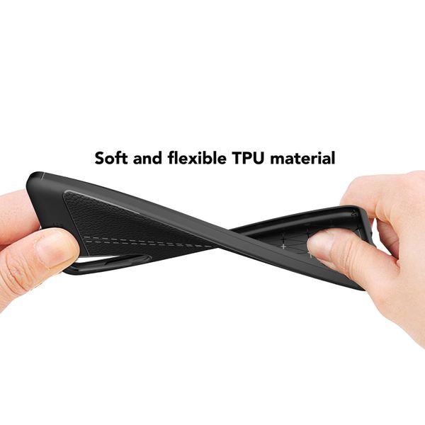 NALIA Leder-Look Handyhülle kompatibel mit Huawei P20 Pro, Ultra Slim Silikon Case Cover, Dünne Struktur Smart-Phone Schutzhülle, Etui Handy-Tasche Back-Cover Bumper, TPU Gummihülle - Schwarz – Bild 5