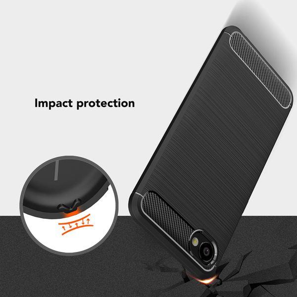 NALIA Handyhülle kompatibel mit HTC Desire 12, Ultra Slim Silikon Case Cover, Dünne Crystal Phone Schutzhülle, Etui Handy-Tasche Back-Cover Bumper, TPU Gummihülle Smartphone - Schwarz – Bild 5