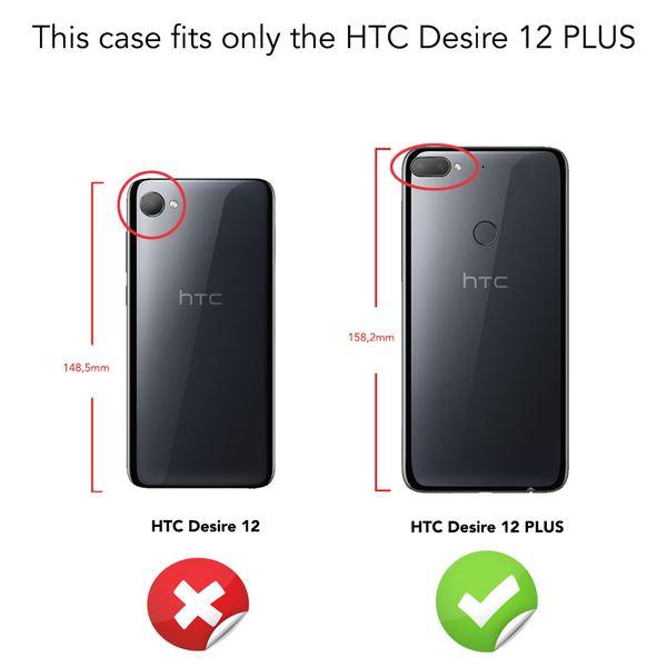 HTC Desire 12 Plus Hülle Handyhülle von NALIA, Ultra Slim Silikon Case Cover, Dünne Crystal Phone Schutzhülle, Etui Handy-Tasche Back-Cover Bumper, TPU Gummihülle für Desire12+ Smartphone - Schwarz – Bild 4