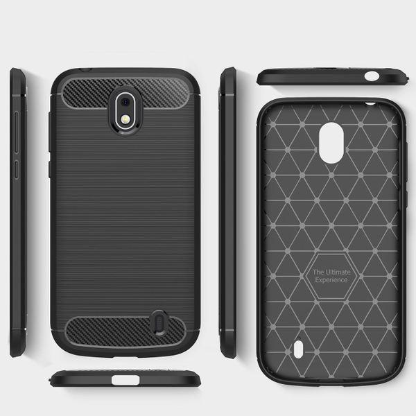 NALIA Handyhülle kompatibel mit Nokia 1, Ultra Slim Silikon Case Cover, Dünne Crystal Phone Schutzhülle, Stoßfeste Etui Handy-Tasche Back-Cover Bumper, TPU Smartphone Gummihülle - Schwarz – Bild 6