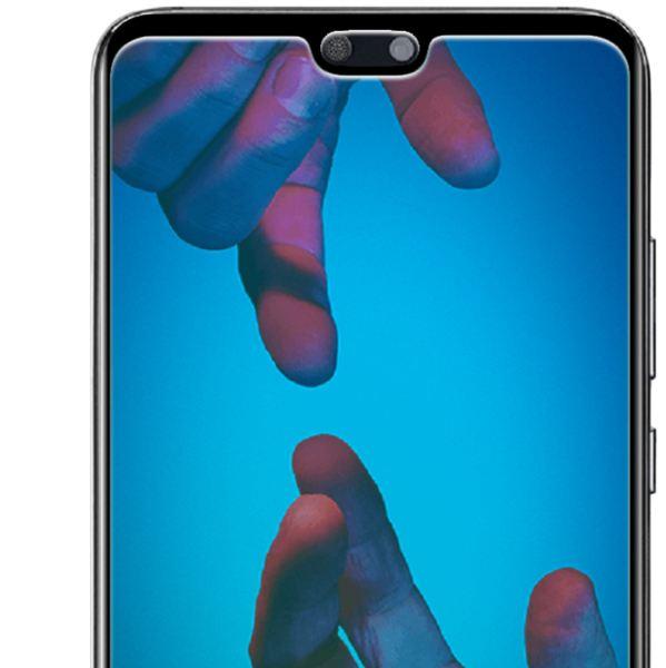NALIA Schutzglas kompatibel mit Huawei P20, 3D Full-Cover Displayschutz Hüllen-Freundlich, 9H Härte Glas-Schutzfolie Handy-Folie Schutz-Film HD Screen Protector Tempered Glass - Transparent (schwarz) – Bild 3