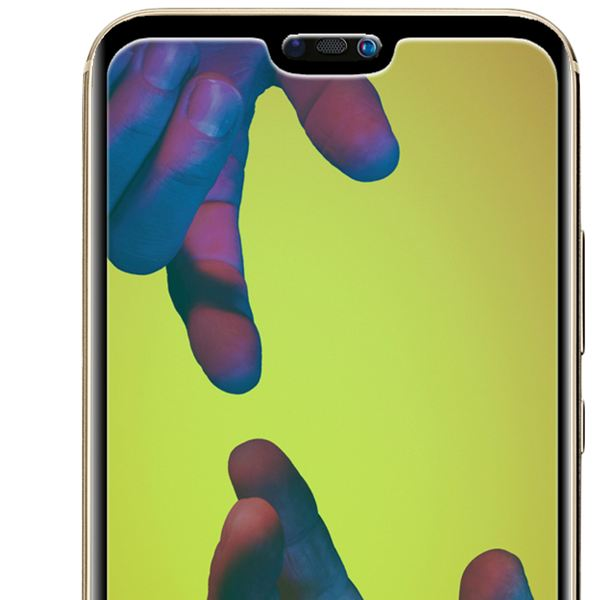 NALIA Schutzglas kompatibel mit Huawei P20 Lite, 3D Full-Cover Displayschutz Hüllen-Kompatibel, 9H Glas-Schutzfolie Handy-Folie Schutz-Film, HD Screen Protector Tempered Glass - Transparent (schwarz) – Bild 3