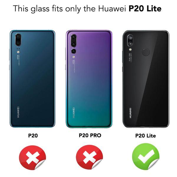 NALIA Schutzglas kompatibel mit Huawei P20 Lite, 3D Full-Cover Displayschutz Hüllen-Kompatibel, 9H Glas-Schutzfolie Handy-Folie Schutz-Film, HD Screen Protector Tempered Glass - Transparent (schwarz) – Bild 4