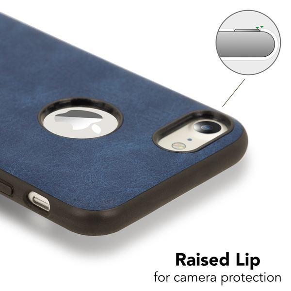 NALIA Kunstleder Handyhülle kompatibel mit iPhone 7, stoßfeste Schutzhülle Case, Dünne Handyhülle Handy-Tasche, Slim Soft-Cover Backcover Phone Etui Matt Smartphone Bumper – Bild 3