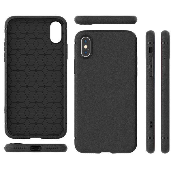 NALIA Leder-Look Hülle kompatibel mit iPhone X XS, Ultra-Slim Handyhülle Silikon Case Cover, Dünne Smart-Phone Schutzhülle, Etui Handy-Tasche Back-Cover Bumper, TPU Gummihülle - Schwarz – Bild 7