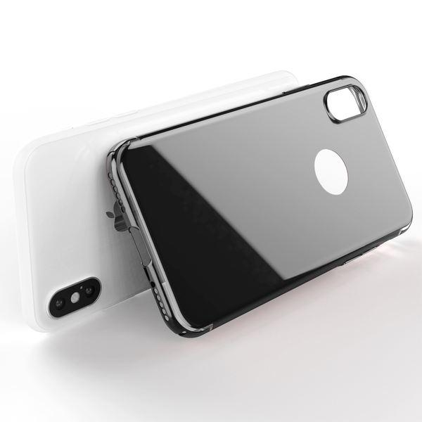 NALIA Spiegel Hülle für iPhone X XS, Handyhülle Dünne Schutz-Hülle mit reflektierendem Back-Cover, Ultra-Slim Bumper Hard-Case Phone Etui Handy-Tasche für Apple i-Phone XS X – Bild 3