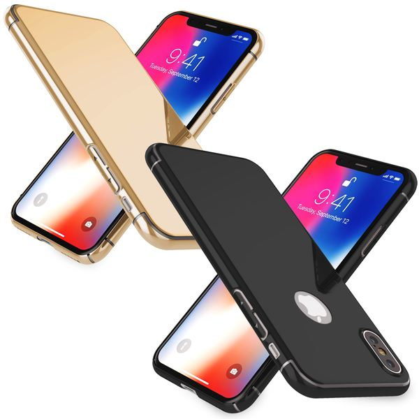 NALIA Spiegel Hülle kompatibel mit iPhone X XS, Handyhülle Dünne Schutz-Hülle mit reflektierendem Back-Cover, Ultra-Slim Bumper Hard-Case Phone Etui Handy-Tasche – Bild 1