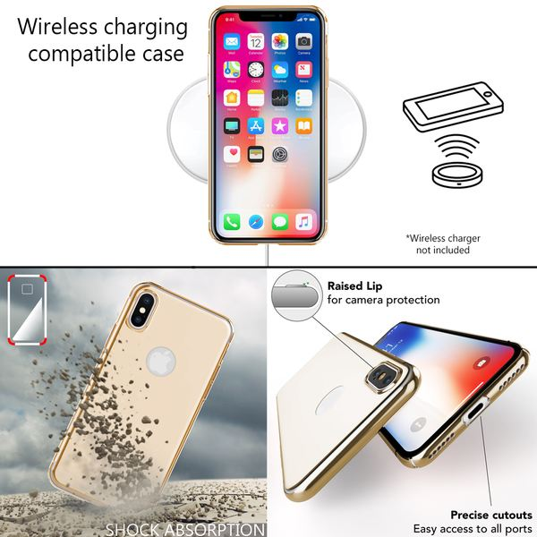 NALIA Spiegel Hülle für iPhone X XS, Handyhülle Dünne Schutz-Hülle mit reflektierendem Back-Cover, Ultra-Slim Bumper Hard-Case Phone Etui Handy-Tasche für Apple i-Phone XS X – Bild 6