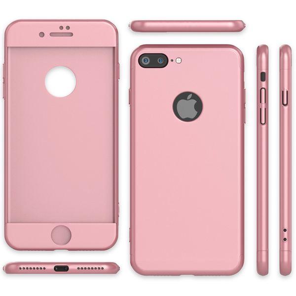 NALIA 360 Grad Handyhülle kompatibel mit iPhone 7 Plus, Full-Cover & Glas vorne hinten Hülle Doppel-Schutz Dünn Ganzkörper Hard-Case Etui Handy-Tasche Bumper & Displayschutz – Bild 13