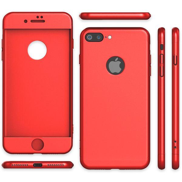 NALIA 360 Grad Handyhülle kompatibel mit iPhone 7 Plus, Full-Cover & Glas vorne hinten Hülle Doppel-Schutz Dünn Ganzkörper Hard-Case Etui Handy-Tasche Bumper & Displayschutz – Bild 25
