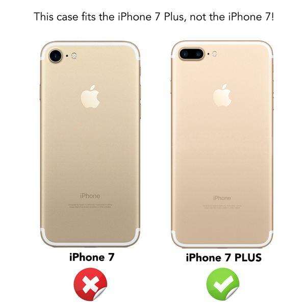 NALIA 360 Grad Handyhülle kompatibel mit iPhone 7 Plus, Full-Cover & Glas vorne hinten Hülle Doppel-Schutz Dünn Ganzkörper Hard-Case Etui Handy-Tasche Bumper & Displayschutz – Bild 17