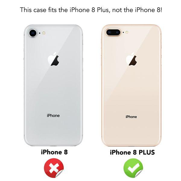 NALIA 360 Grad Handyhülle kompatibel mit iPhone 8 Plus, Full-Cover & Glas vorne hinten Hülle Doppel-Schutz Dünn Ganzkörper Hard-Case Etui Handy-Tasche Bumper & Displayschutz – Bild 5