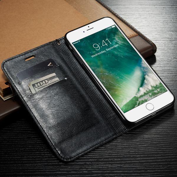 NALIA Klapphülle kompatibel mit iPhone 8 / 7, Slim Kickstand Handyhülle Flip-Case Kunst-Leder Cover mit Magnet Etui Ganzkörper Schutz Dünne Rundum Handy-Tasche Bumper – Bild 6