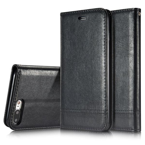NALIA Klapphülle kompatibel mit iPhone 8 Plus / 7 Plus, Slim Kickstand Handyhülle Flip-Case Kunst-Leder Cover Magnet Etui Schutz Dünne Rundum Handy-Tasche Bumper – Bild 2