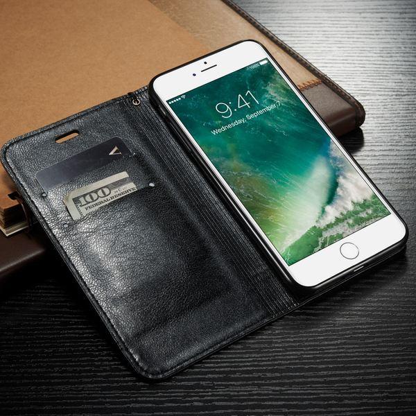 NALIA Klapphülle kompatibel mit iPhone 8 Plus / 7 Plus, Slim Kickstand Handyhülle Flip-Case Kunst-Leder Cover Magnet Etui Schutz Dünne Rundum Handy-Tasche Bumper – Bild 7