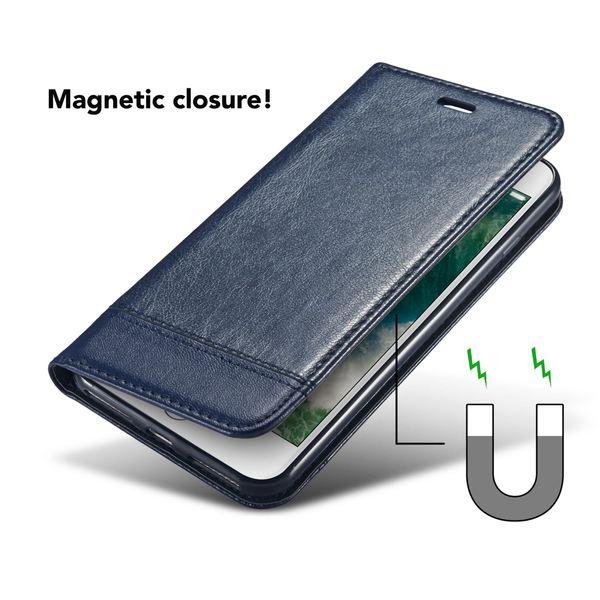NALIA Klapphülle kompatibel mit iPhone 8 Plus / 7 Plus, Slim Kickstand Handyhülle Flip-Case Kunst-Leder Cover Magnet Etui Schutz Dünne Rundum Handy-Tasche Bumper – Bild 11