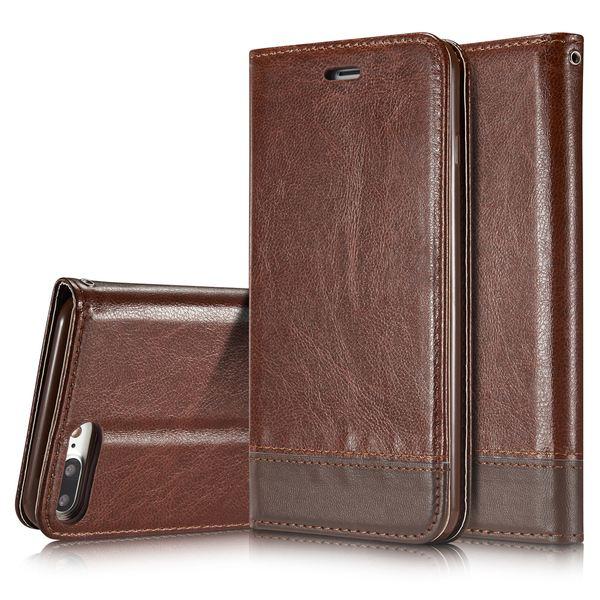 iPhone 8 Plus / 7 Plus Hülle Klapphülle von NALIA, Slim Kickstand Handyhülle Flip-Case Kunst-Leder Cover Magnet Etui Schutz Dünne Rundum Handy-Tasche Bumper für Apple i-Phone 7+ / 8+ – Bild 16